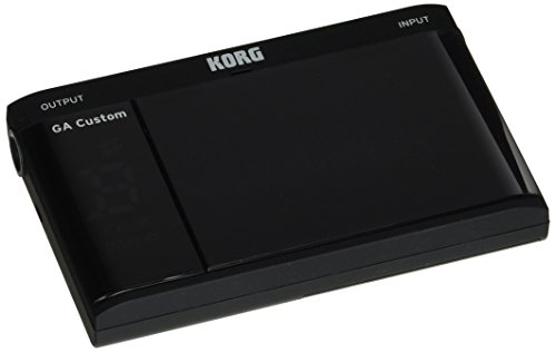KORG GA Custom - Chromatic Tuner (Guitar/Bass) w/ 3D meter, Black - Bass Tuner