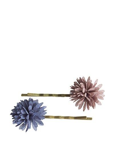 Maileg Haarspange Set Chiffon Flowers denim (Chiffon Denim)