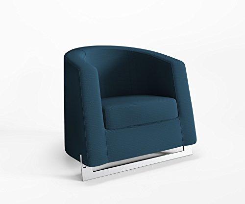 Ruhesessel Noble A Clubsessel Relaxsessel Polster Webstruktur Queens, Farbe :Q22 - Blau-Grün