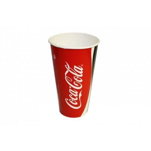 50 Pappbecher original Coca Cola 0,4 L Becher Trinkbecher