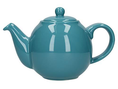 London Pottery Petite théière avec passoire, céramique, aqua, 2 tasses (500 ml)