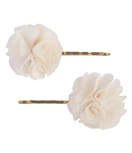 SIX Haarschmuck, 2er Set Haarspange mit weißen Tüll-Blumen (329-623) - Pins Braut-haar