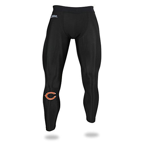 Zubaz NFL Chicago Bears Stecker NFL Leggings, Schwarze, X-Large