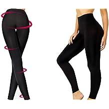 2c4d54a8f10a28 Abnehmen Leggings Nahtlose Shapewear Frauen / Damen Bauch Beine Body  Control (Set von 1 schwarz