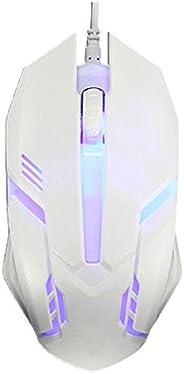 Sidougeri Pulsante per mouse da gioco con cavo LED 2000 DPI Mouse USB con retroilluminazione