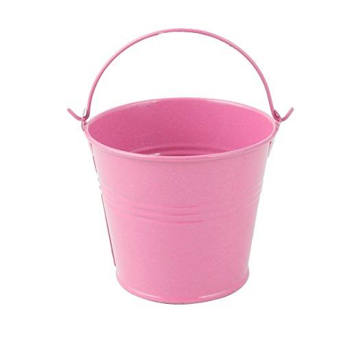 lt Metall Eimer geformte Pflanzer Halter Blumentopf Dekoration Rosa (Rosa Metall Eimer)