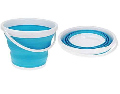 VADOO Zusammenklappbarer, tragbarer Haushaltseimer - bis zu 10 Liter Wasserspeicher - ideal für die Reinigung von Häusern, zum Waschen von Fenstern, für Aktivitäten im Freien, zum Angeln und Camping (Waschen Fenster Aktivität)