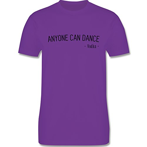 Statement Shirts - Anyone can dance - Vodka - - Herren Premium T-Shirt Lila