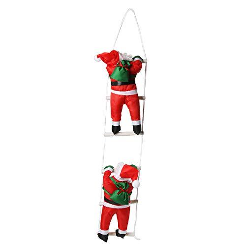Funhoo 2 X Papá Noel Escalada Escalera/Cuerda, Muñeca