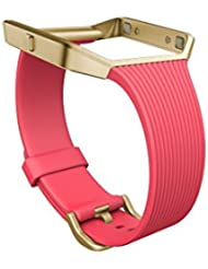 Fitbit Blaze Slim Classic Accessory Band, Pink, Large