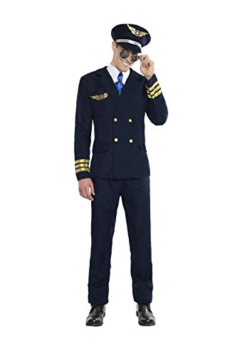 Imagen de disfraz piloto de avion talla s tamaño adulto