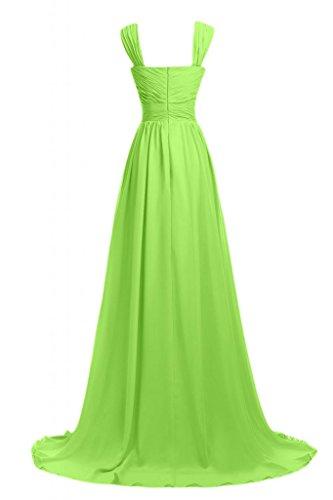 Sunvary Romantic 2014-vestito da damigella d'onore abito da sera lungo Pageant Gowns Verde chiaro
