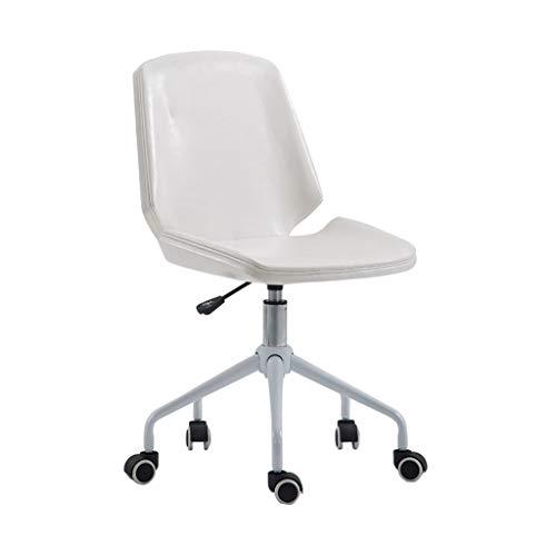 MMLI-Schreibtischstühle Esszimmer- / BüRo-Drehstuhl-Leder-Justierbare Stahlbeine Mit RäDern Und Aufzug - Wahl Der Farben