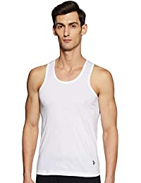 U.S. Polo Assn. Mens Round Neck Solid Vest - Pack of 3