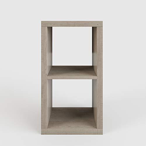 Phönix 118112BU Aktionsprodukt Cubo 2 x 1 Regal in Buche auch in Wenge erhältlich, 77,4 x 41,9 x 29 cm