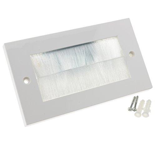 kenable Steckdosenbürste für Kabel, 1 Gang, Weiß/Schwarz (Coole Wand Steckdosen-abdeckungen)