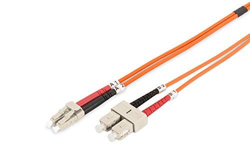 Sc Duplex 3m (DIGITUS LWL Patch-Kabel OM2 - 3 m LC auf SC Glasfaser-Kabel - LSZH - Duplex Multimode 50/125µ - 10 GBit/s - Orange)
