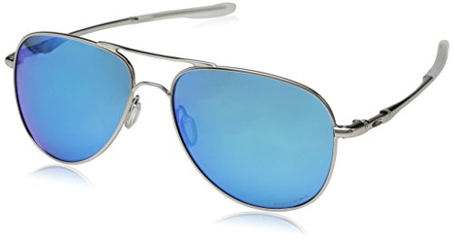 Oakley Unisex-Erwachsene Elmont 411915 Sonnenbrille, Silber (Plateado), 58
