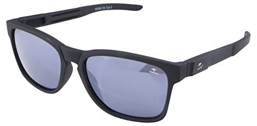ROADSIGN Sonnenbrille Unisex UV 400 SchutzI Modell Wayfarer I Glasfarbe: schwarz