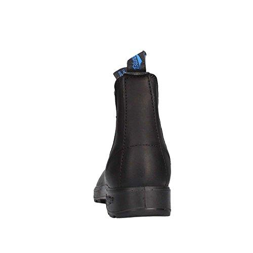 Stivaletto tronchetto in pelle Blundstone BCCAL0024 0515888 nero con elastico blu Blu
