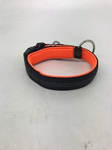 best dog Premium Hundeleine für große Hunde - Reflektierend mit Ruckdämpfer (Hundehalsband Orange-Schwarz) -
