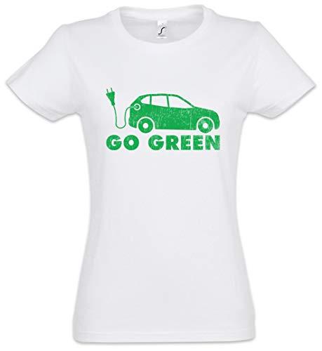 Urban Backwoods BEV Go Green Women Donna T-Shirt Bianco Taglia XS