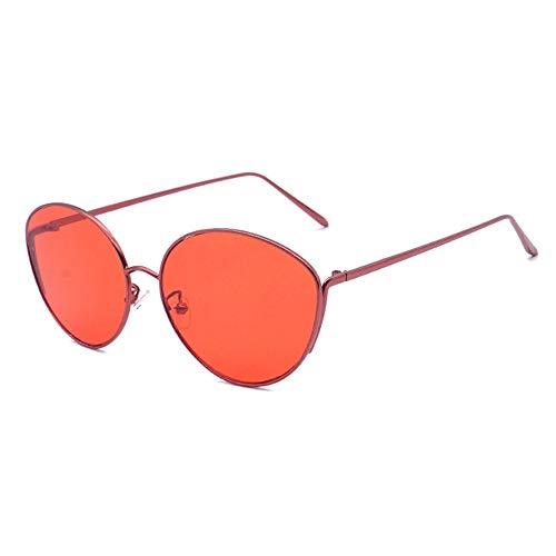 FURUDONGHAI New Legierung Sonnenbrille oval Big Frame Brille Unisex uv400 Schutz besonders geeignet für sommerreisen oder Outdoor s (Farbe : Red)