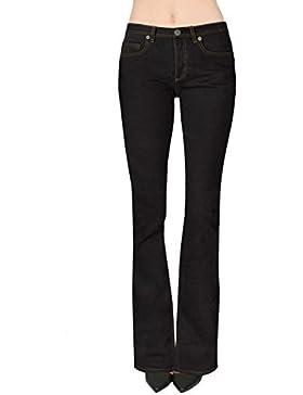HyBrid & Company bootcut flaco pantalones elásticos para mujeres