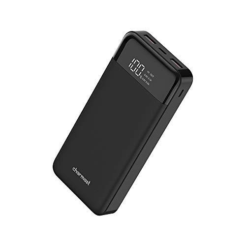 Charmast 20800mAh USB C Batterie Externe 20000 Power Bank avec Affichage LED Chargeur Externe USB Smart E 5V/3A Batterie Portable pour iPhone Samsung Huawei Wiko iPad