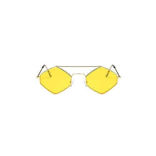 WJFDSGYG Sonnenbrille Damen Kleine Metallbrille Herren Outdoor Sonnenbrille Klare Linse Uv400 Seemädchensonne
