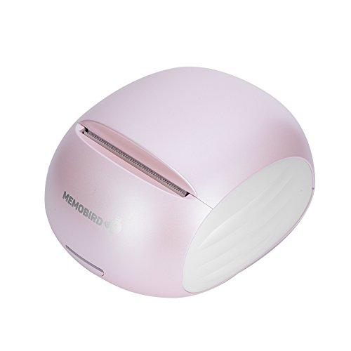 Richer-R Handydrucker Fotodrucker, Thermische WLAN Foto-Drucker Papier WiFi Foto Drucker 57x50mm,Tragbar Mobiler Fotodrucker Schwarz-Weiß-Pixel Mini Photo Printer für Android/iOS(Pink)