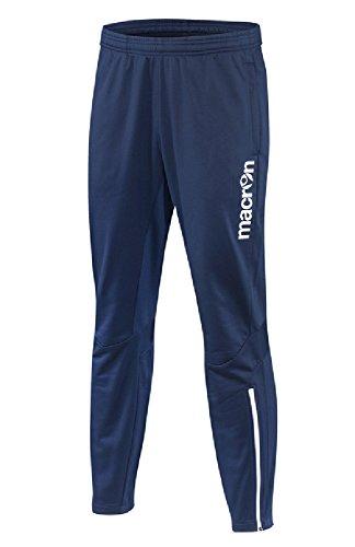 Pantalone Tuta Da Ginnastica Uomo Sportivo Con Fondo Stretto Macron Donec Blu Navy