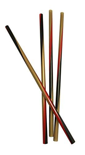Jumbo Trinkhalme DEUTSCHLAND (schwarz - rot - gold/25 cm - 150 Stück) PARTY HIGHLIGHT + BIGPACK