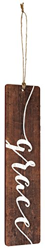 Grace weiß Script Design Braun 15,2cm Holz Barnhouse Lesezeichen (Lesen Teen)