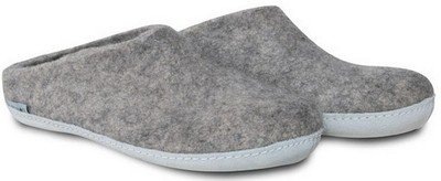 Glerups - Chausson gris clair taille basse -