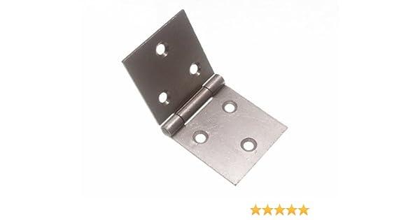 "Pair Back Flap Box Hinge 2/"" 50mm Backflap With Screws"