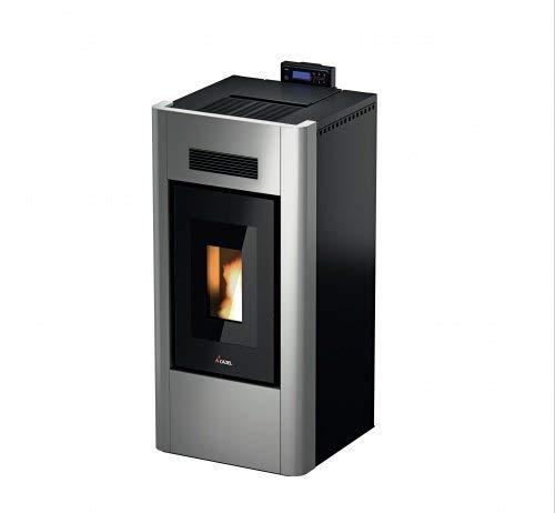 CADEL Idro Prince 23 kW H2O Pelletofen wasserführend Ofen Pellet Kamin Auswahl-Idro-H2O-23 Metall-Silver