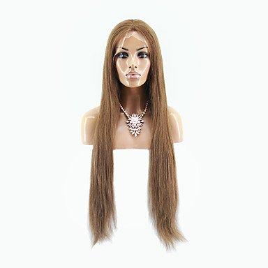 Mode Mod Perücke (Bestnote brasilianische reine Haar Spitze-Front Perücke seidige staraight Haar braune Farbe reines Menschenhaa Spitze Perücke)