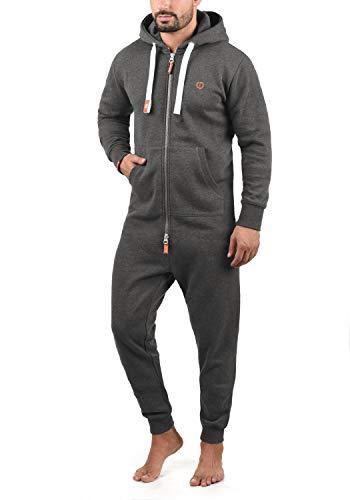 !Solid BennJump Herren Jumpsuit Sweat-Overall Onesie Mit Kapuze, Größe:L, Farbe:Grey Melange (8236)