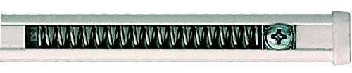 'Gardinenstange aus Aluminium mit Feder (Schraubverschluss) und Saugnapf–Weiß lackiert–Modell