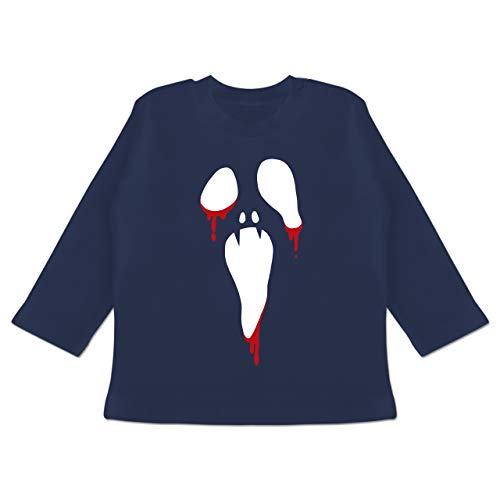am Halloween - 18-24 Monate - Navy Blau - BZ11 - Baby T-Shirt Langarm ()
