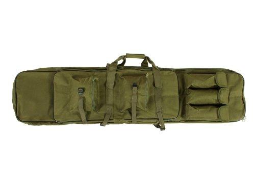 Begadi-Langwaffentasche-Futteral-mit-Doppelfach-Aussentaschen-extralang-120-x-30cm-olive