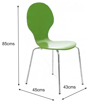 Your Price Furniture.com Kimberley Dining Set White Table and 2 Green Chrome Metal Keeler Style Stackable Dining Chairs - Kitchen Cafe Bistro Chairs & Small Round Table
