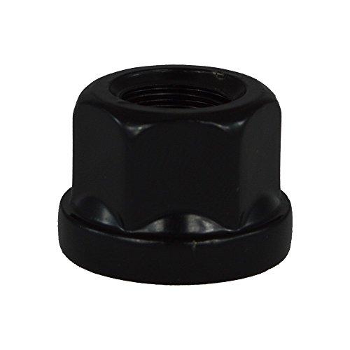EvoCorse Écrou de roue ouvert M12x1.25, Assise plat, Clé 19, Longueur 17.5 mm, Noir galvanisé, 4 pcs