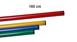 agility sport pour chiens - jalon, longueur 160 cm, Ø 25 mm, rouge - 1x 160r