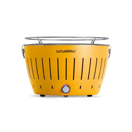 LotusGrill GE-34 Grill Charcoal Grill – Barbecues & Grills (Kettle, Yellow, Round, Plastic, Stainless Steel, Stainless Steel)