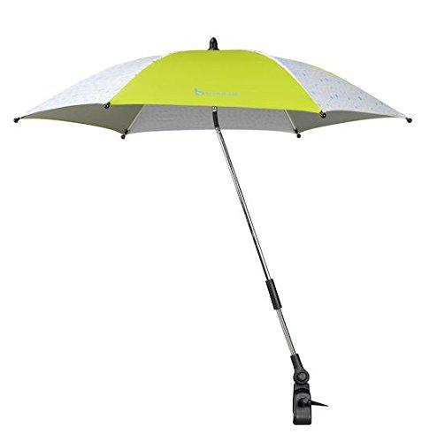 Badabulle B060009 Sonnenschirm für Kinderwagen und Buggy, UV-Schutz 50 Plus, gelb
