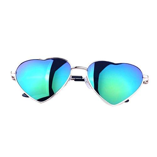 s Metall aus Metall Polarisierte Aviator Gespiegelt für Frauen - Grün (Super Dunkle Sonnenbrille)