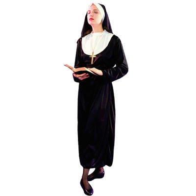 Patry-Partners 87029 Damen-Kostüm Nonne , Einheitsgröße -Nonnen-Kostüm-Schwester- (Für Partner Kostüme Damen)