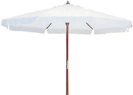 Sonnenschirm aus Holz rund mit Rand Ø 350cm.
